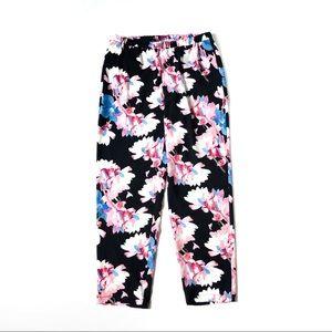 Vince Camuto Floral Print Tapered Pants Pull On